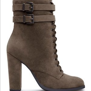 Olive Green Bootie